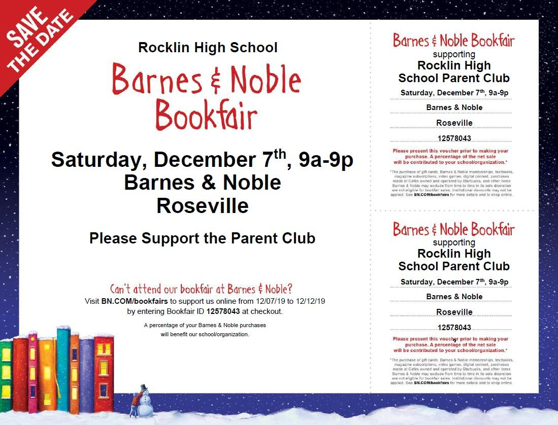 Barnes & Noble Book Fair with Rocklin High School PTC